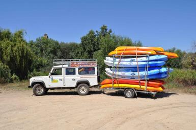 Piraguas aguas tranquilas Extremadura